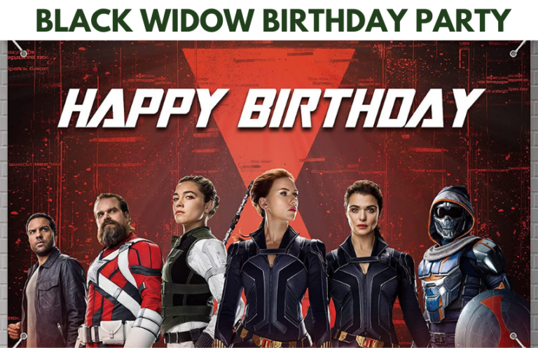 EPIC Black Widow Birthday Party  Ideas