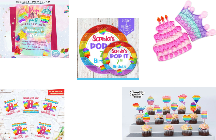 How To Create An EPIC Pop It Birthday Party With These Awesome Ideas